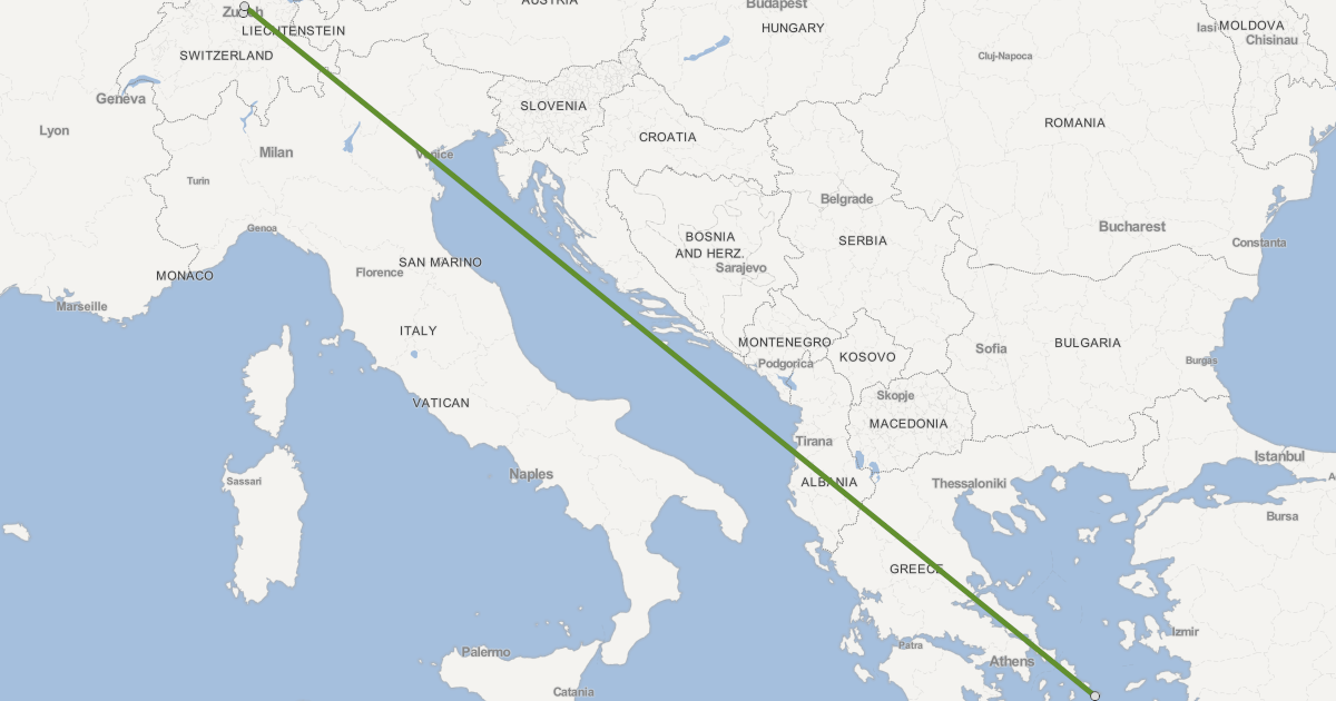 From Zurich to Mykonos, Greece