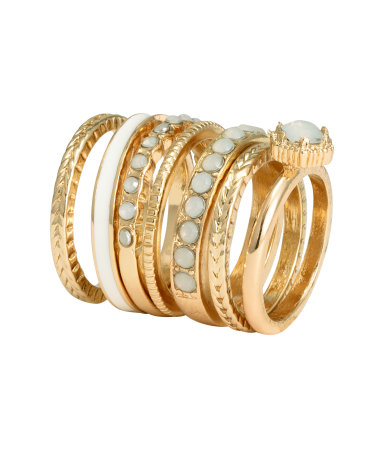 H&M 7 pack ring - CHF7.90
