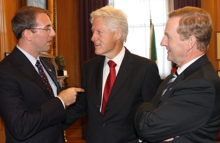 In 2013, Mike met in Dublin with former President Bill Clinton and Ireland's current Prime Minister Enda Kenny.