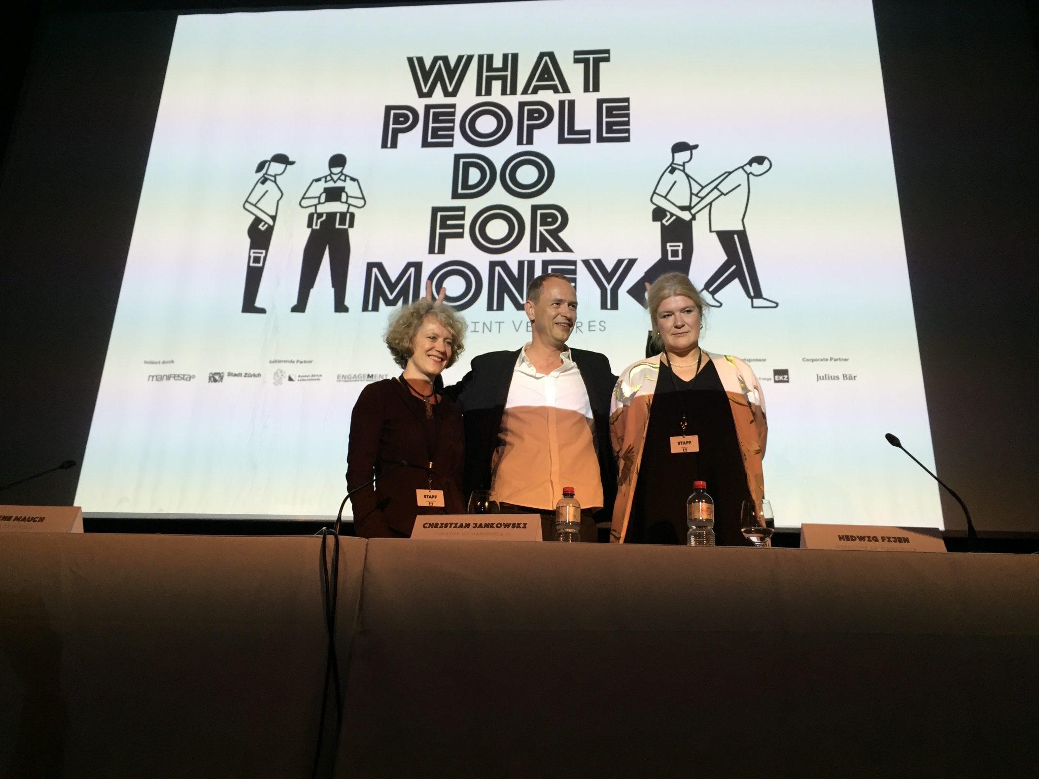 Mayor Corine Mauch, Curator Christian Jankowski & Director Hedwig Fijen