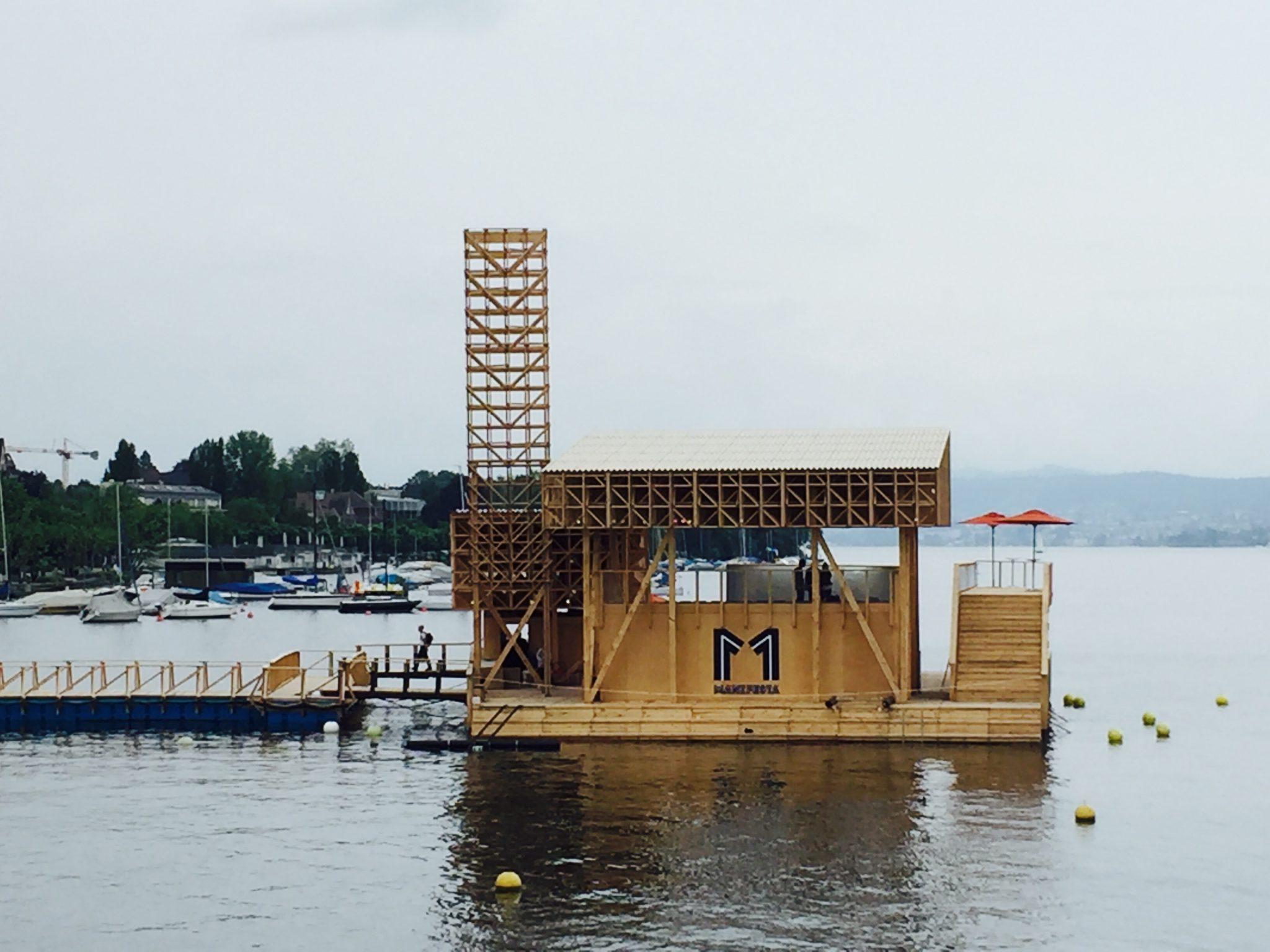 Platform for Reflection on lake Zurich