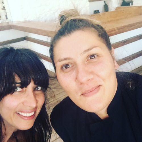Chef Avgeria Stapaki and I