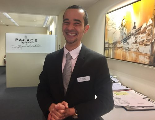 Reception manager Samir