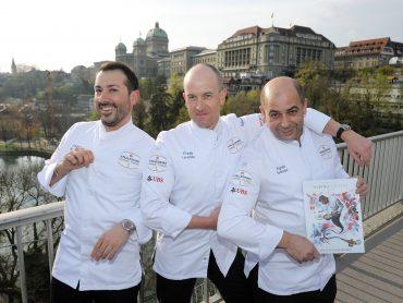 Chefs Andrea Bertarini, Frank Oerthle, Egidio Iadonisi.