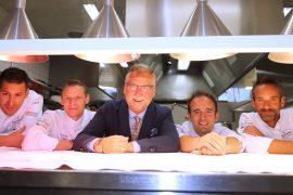 Chef Domenico Ruberto, Chef Patrick Mahler, Dany Stauffacher, Chef Philippe Bourrel & Chef Pierre Crépaud.